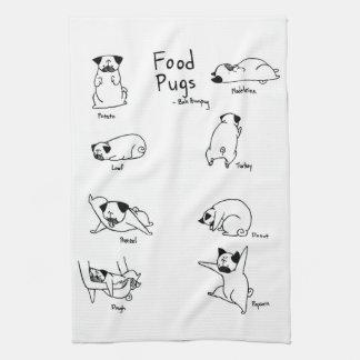 Food Pugs Tea Towel