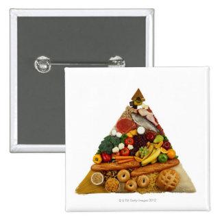 Food Pyramid 15 Cm Square Badge