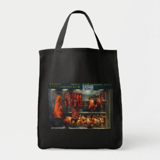 Food - Roast meat for sale Grocery Tote Bag