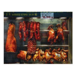 Food - Roast meat for sale Postcard