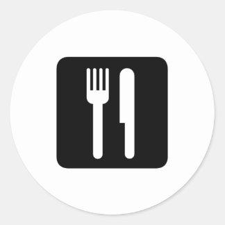 food round sticker