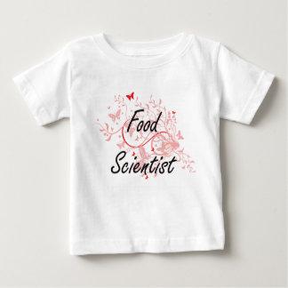 Food Scientist Artistic Job Design with Butterflie T Shirt