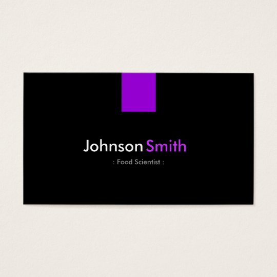 Food Scientist - Modern Purple Violet Business Card