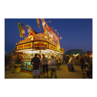 Food stand at the Northwest Montana Fair in Poster