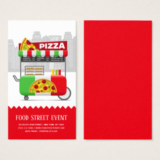 Food street pizza business card
