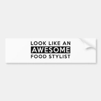FOOD STYLIST DESIGNS BUMPER STICKER