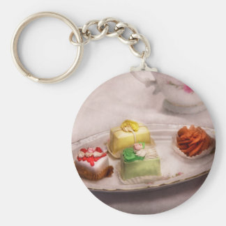 Food - Sweet - Cake - Grandma's treats Basic Round Button Key Ring