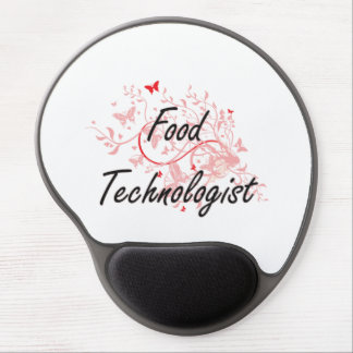 Food Technologist Artistic Job Design with Butterf Gel Mouse Pad