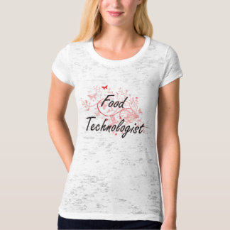 Food Technologist Artistic Job Design with Butterf Tshirts