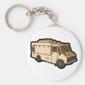 Food Truck: Basic (Cream) Key Ring