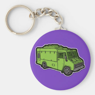 Food Truck: Basic (Green) Key Ring