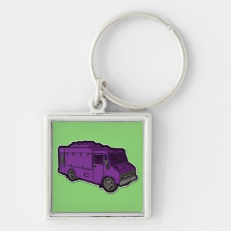 Food Truck: Basic (Purple) Key Ring