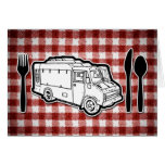 Food Truck Plate & Utensils Greeting Card