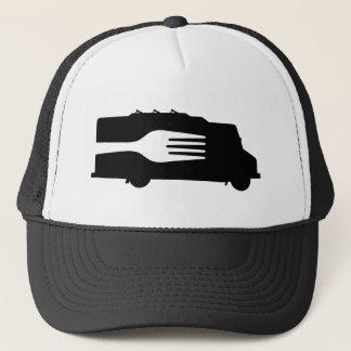 Food Truck: Side/Fork (Black/White) Trucker Hat