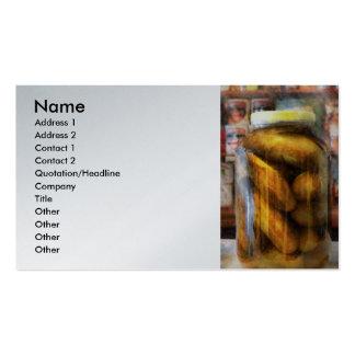 Food - Vegetable - A jar of pickles Business Card