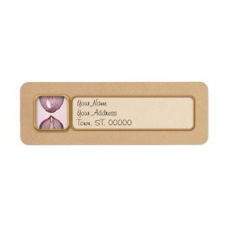 Food - Vegetable - Cross section of a Red Onion Return Address Label