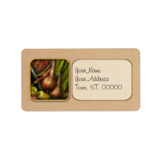 Food - Vegetables - Greens and Onions Address Label