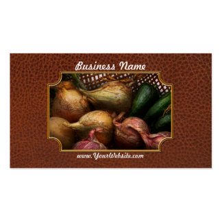 Food - Vegetables - Onions and Peppers Business Card