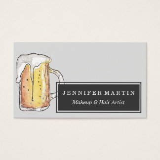 Foodie Cold Beer Mug in Hand Painted Watercolor