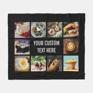 Foodie custom fleece blanket