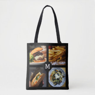 Foodie custom monogram bags