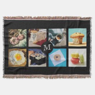 Foodie Custom Monogram throw blanket 2