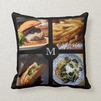 Foodie custom monogram throw pillows 1