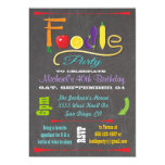Foodie party Chalkboard Invitations