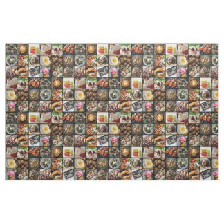 Foodie Photo Collage fabric