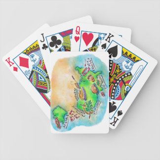 Foods of the USA Bicycle Playing Cards