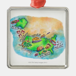 Foods of the USA Christmas Ornament