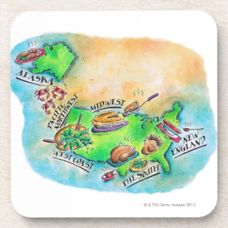 Foods of the USA Coaster