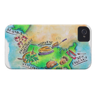 Foods of the USA iPhone 4 Case-Mate Cases