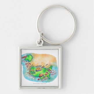 Foods of the USA Key Ring