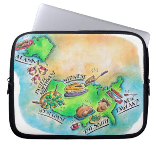 Foods of the USA Laptop Sleeve