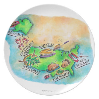 Foods of the USA Plate