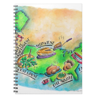 Foods of the USA Spiral Notebook