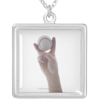 Fookball. Silver Plated Necklace
