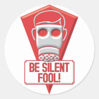 Fool Round Stickers