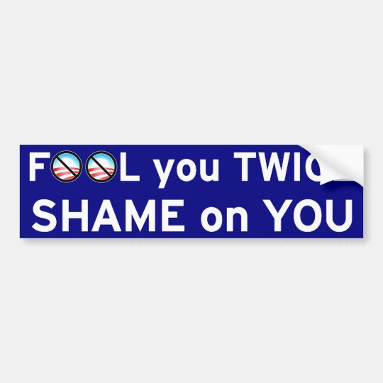 Fool You Twice Bumper Sticker