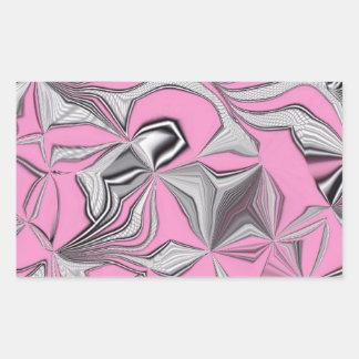 foolish movements, effect pink rectangular sticker