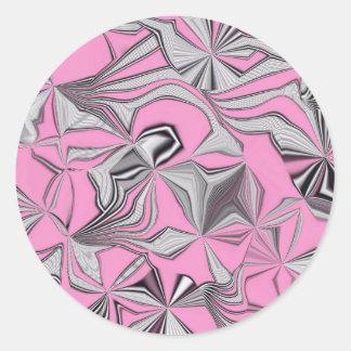 foolish movements effect pink sticker