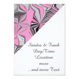 "foolish movements pink effect 5"" x 7"" invitation card"