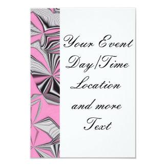 "foolish movements pink effect 3.5"" x 5"" invitation card"