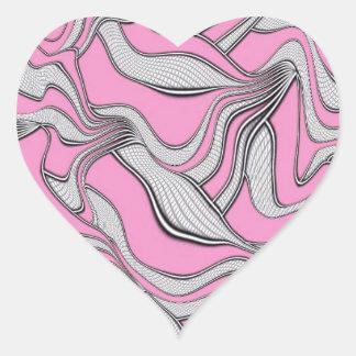 foolish movements pink heart stickers