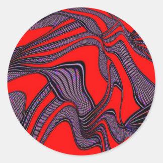 foolish movements red black sticker