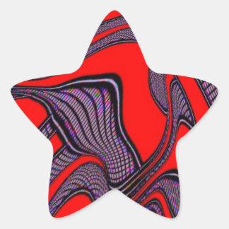 foolish movements, red black star stickers