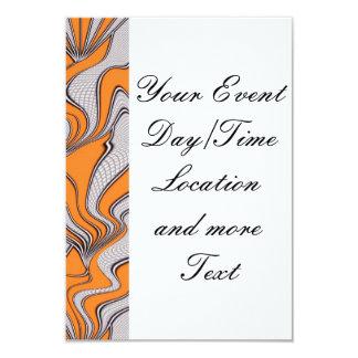 """foolish movements swirl orange 3.5"""" x 5"""" invitation card"""