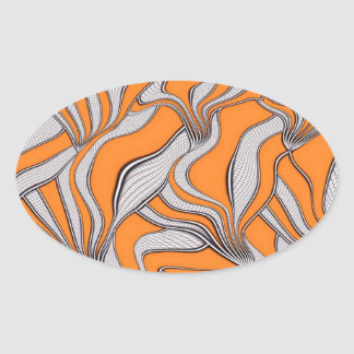 foolish movements swirl orange sticker