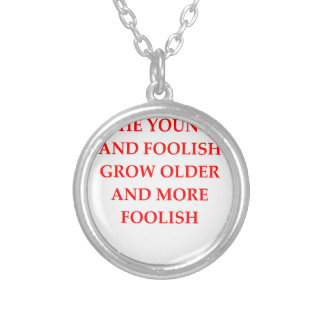 FOOLISH SILVER PLATED NECKLACE